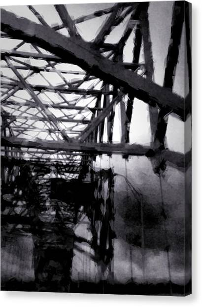 Mississippi River Canvas Print - Crossing The Mississippi by H James Hoff