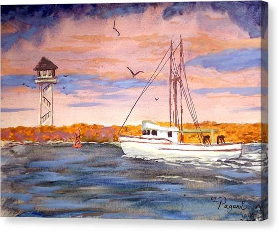 Crossing The Tillamook Bay Bar Canvas Print