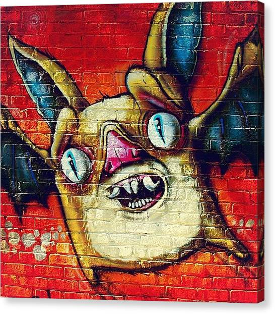Bat Canvas Print - Crossroads Graffiti #kansascity #kc by Lee-o DeLeon