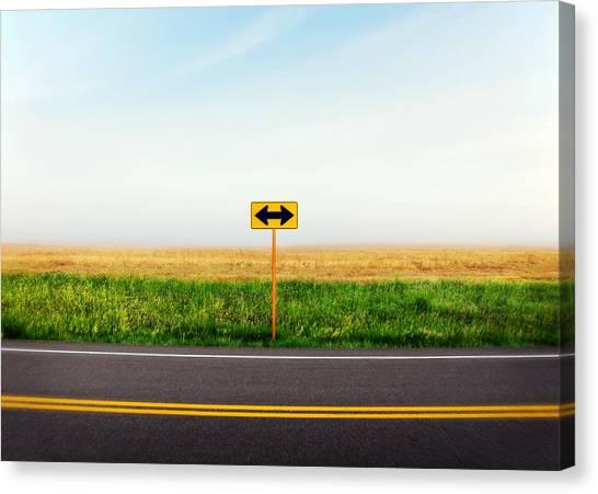 Roads Canvas Print - Crossroads by Todd Klassy