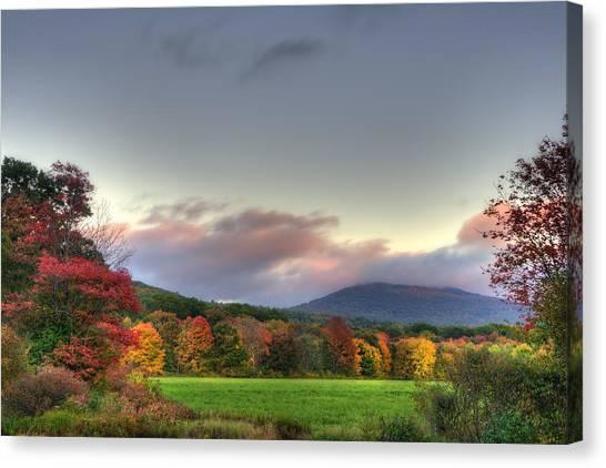Crotched Mountain Autumn Sunset Canvas Print by Joann Vitali