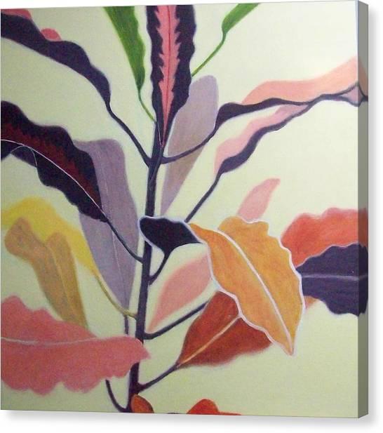 Croton Canvas Print by Mary Adam
