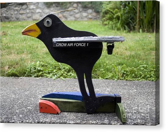 Crow Air Force 1 Canvas Print
