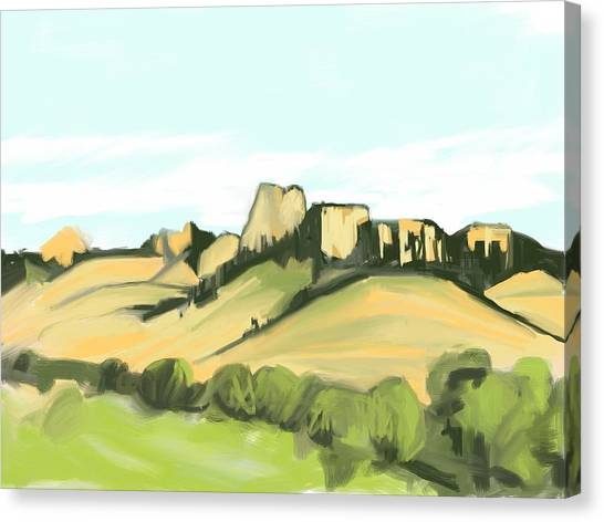 Crow Butte Canvas Print