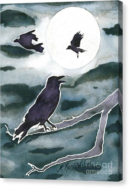 Crow Moon Canvas Print