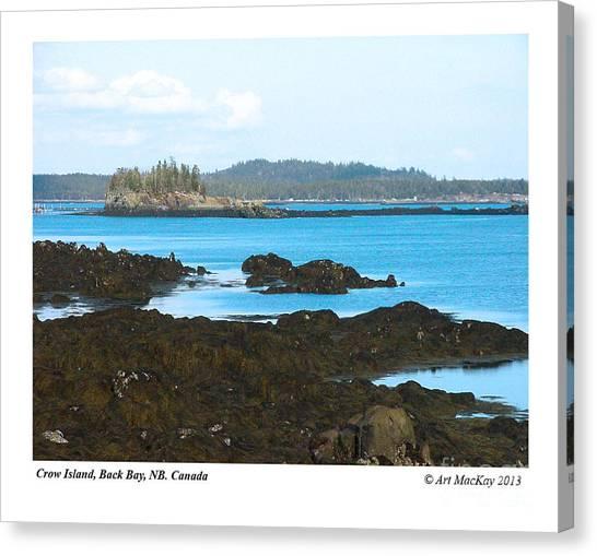 Crow Island Bay Of Fundy Nb Canvas Print