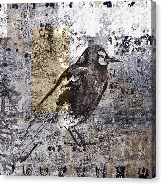 Personality Canvas Print - Crow Number 84 by Carol Leigh
