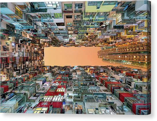 Hong Kong Canvas Print - Crowded Spaces by Gerald Macua