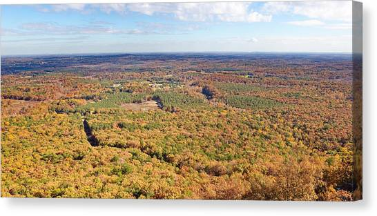 Crowders Mountain Overlook Panorma Canvas Print
