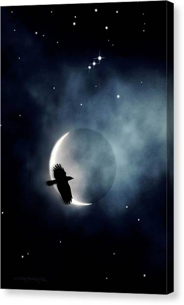 Crowmoon And Orion Canvas Print