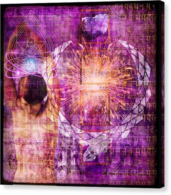 Canvas Print - Crown Chakra. by Mark Preston