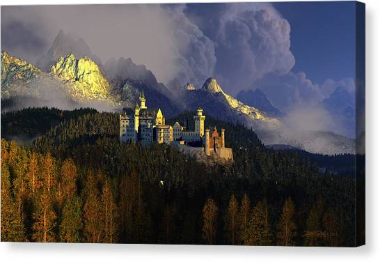 Crown Of Swans Canvas Print