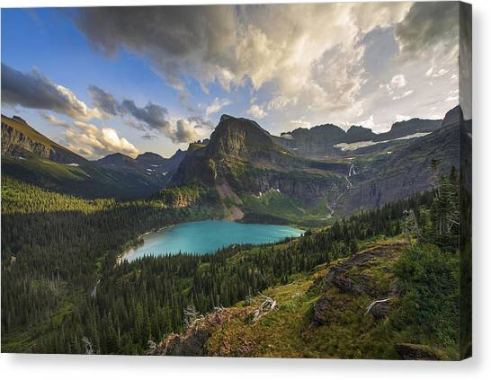 Glacier National Park Canvas Print - Crown Of The Continent by Joseph Rossbach