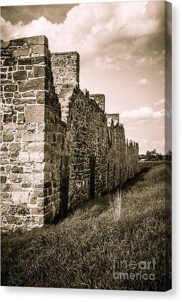 Fortification Canvas Print - Crown Point New York Old British Fort Ruin by Edward Fielding