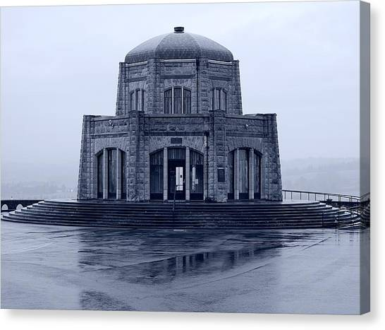Crown Point - Vista House Canvas Print by HW Kateley