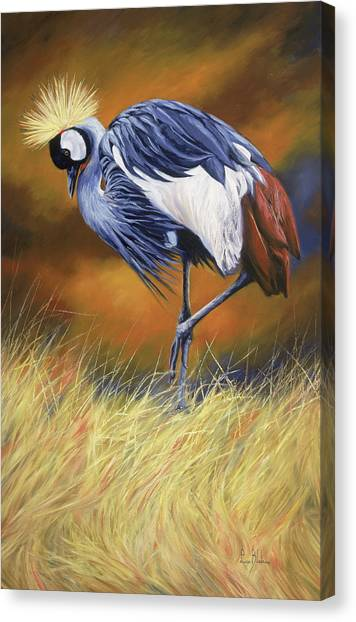 Cranes Canvas Print - Crowned by Lucie Bilodeau