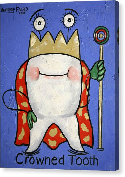 Dentists Canvas Print - Crowned Tooth by Anthony Falbo