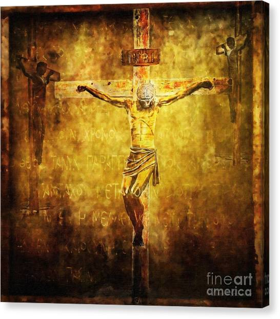 Crucified Via Dolorosa 12 Canvas Print