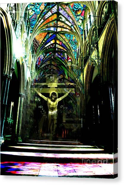 Crucifix Reflexions Canvas Print