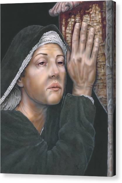 Crucifixion- Mothers Pain Canvas Print