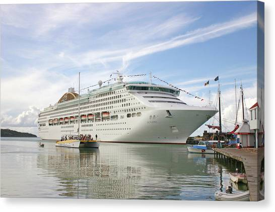 Cruise Ships Canvas Print - Cruise Ship by Graeme Ewens/science Photo Library