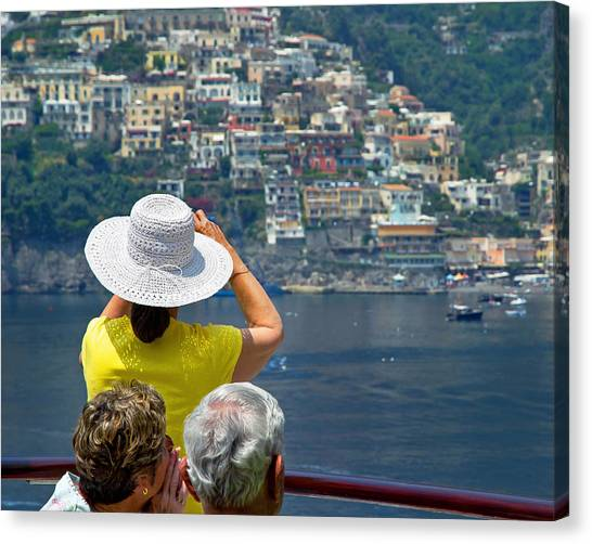 Cruising The Amalfi Coast Canvas Print