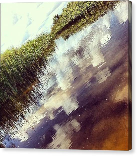 Everglades Canvas Print - Cruising The #everglades #florida by Shawn Who