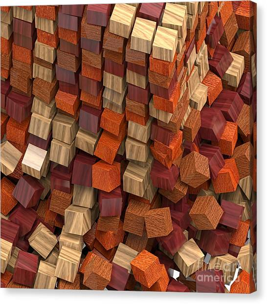 Crumble Tower Of Wood Canvas Print