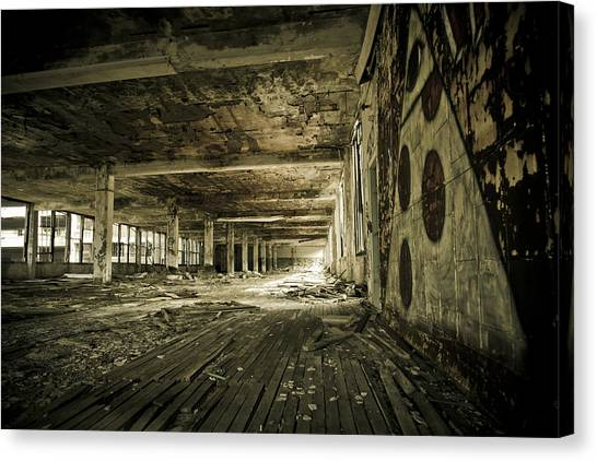 Crumbling History Canvas Print