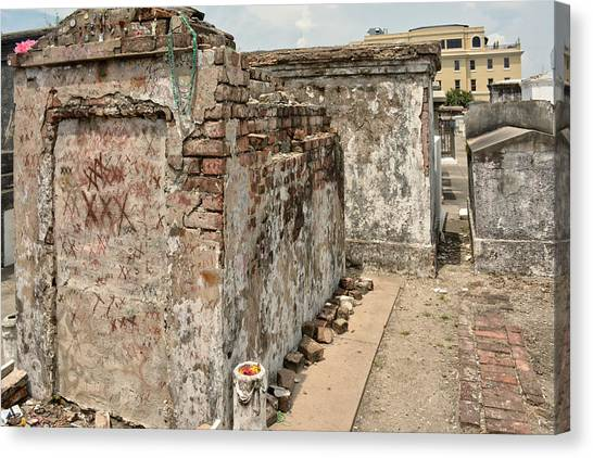 Crumbling Wishes At Saint Louis Cemetery Canvas Print