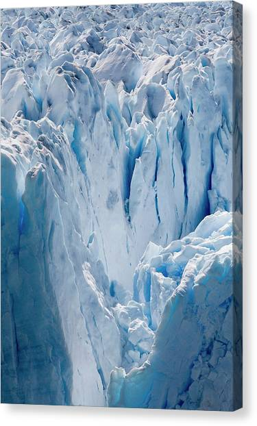Perito Moreno Glacier Canvas Print - Crumpled Glacier Ice by Steve Allen/science Photo Library