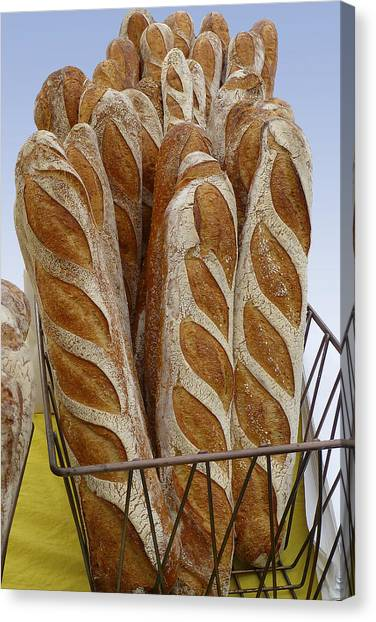 Canvas Print featuring the photograph Crusty Bread by Dee Flouton