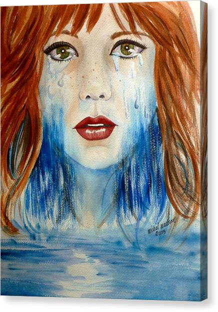 Crying A River Canvas Print