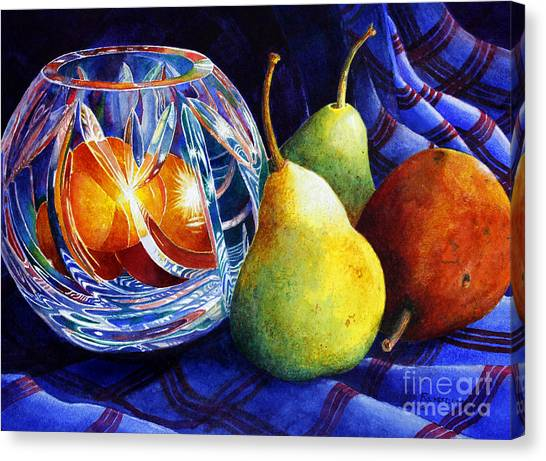 Crystal And Pears Canvas Print