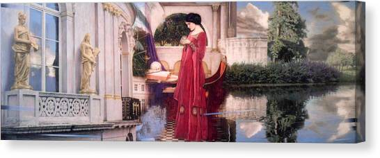 Pre-modern Art Canvas Print - Crystal Ball  After Waterhouse by Loren Salazar