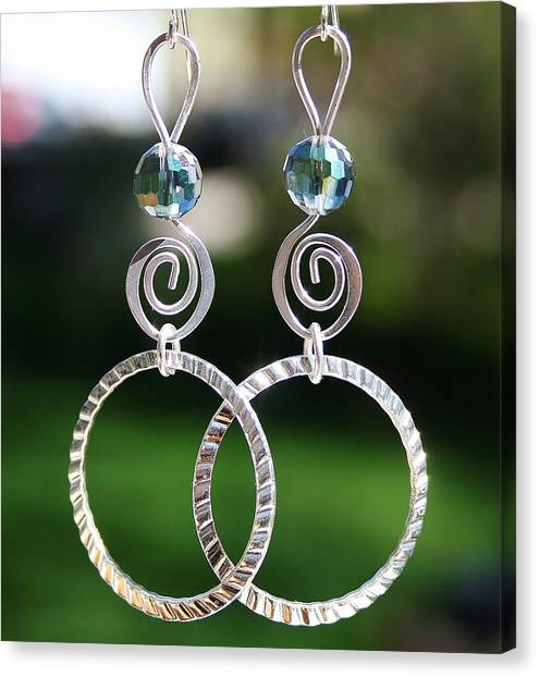 Crystal Ball Earrings Canvas Print