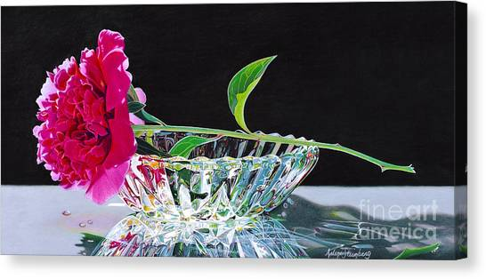 Crystal Beauty Canvas Print by Arlene Steinberg
