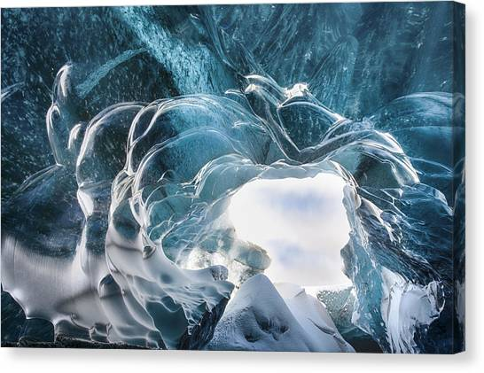 Ice Caves Canvas Print - Crystal Cave by Timm Chapman