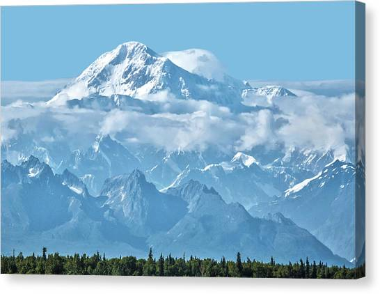 Crystal Clear Mt. Mckinley Canvas Print