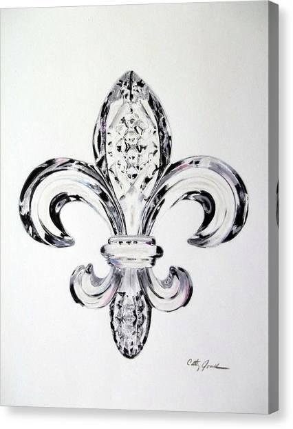 Crystal Fleur De Lis Canvas Print