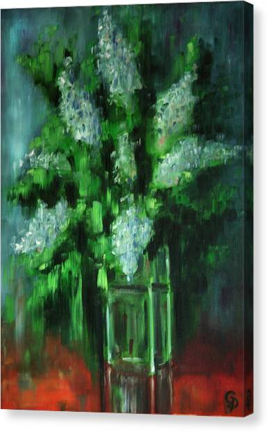Crystal Flowers Canvas Print by George Dadiani
