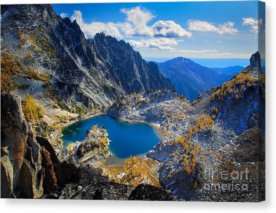 Larch Canvas Print - Crystal Lake by Inge Johnsson