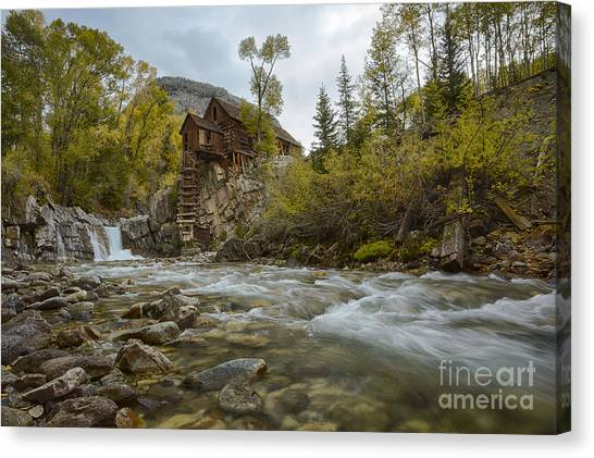Crystal Mill Canvas Print - Crystal Mill by Idaho Scenic Images Linda Lantzy