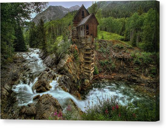 Crystal Mill Riverside Canvas Print