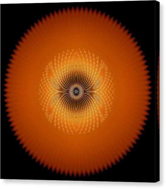 Crystal Orange Canvas Print