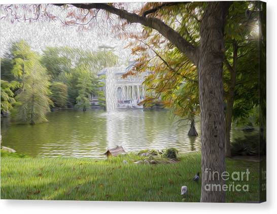 Crystal Palace In Retire's Park Oleo Canvas Print