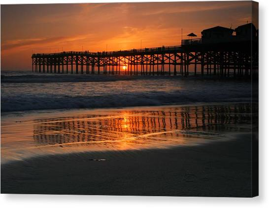 Crystal Pier Sunset Canvas Print