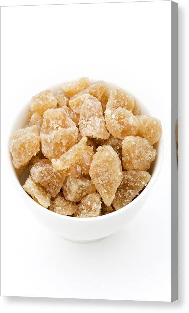 Knockout Canvas Print - Crystallised Ginger by Geoff Kidd/science Photo Library