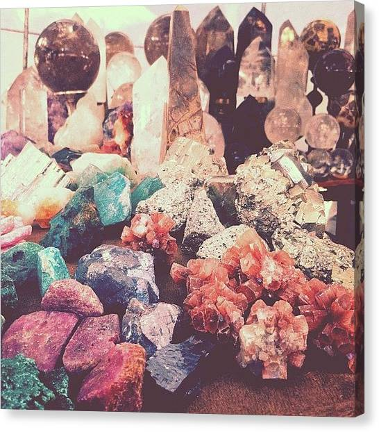 Gemstones Canvas Print - Crystals At The Market by Courtney Jines