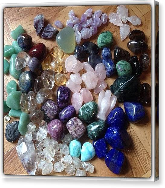 Gemstones Canvas Print - Crystals For Sale #charoite by Robyn Padden